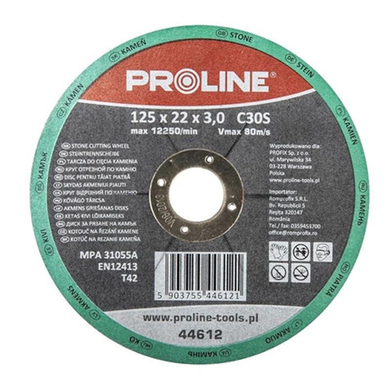 Disc debitare piatra Proline, 125 x 3 mm, tip T42 shopu.ro
