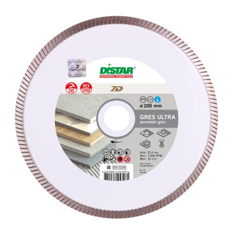 Disc diamantat Distar Gres Ultra, 200 mm 2021 shopu.ro