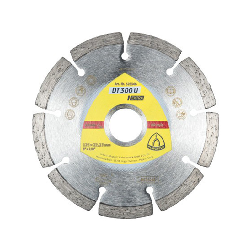 Disc diamantat segmentat Klingspor, 125 mm, uz general