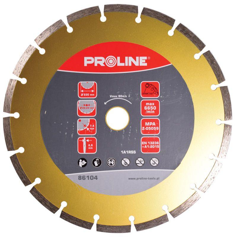 Disc diamantat segmentat super dur Proline, 230 mm 2021 shopu.ro