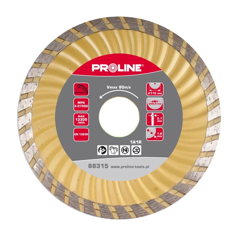 Disc diamantat turbo canelat Proline, super dur, 180 mm shopu.ro