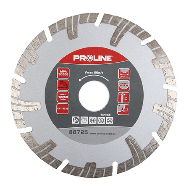 Disc diamantat turbo segmentat Proline, 125 mm 2021 shopu.ro