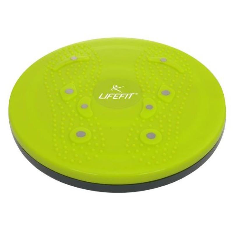 Disc rotativ pentru masaj DHS, 25 cm, PVC, magnetic, Verde 2021 shopu.ro