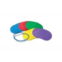 Jucarie educativa Discuri colorate distantare sociala Learning Resources, 30 discuri, spuma lavabila, 3-6 ani, Multicolor