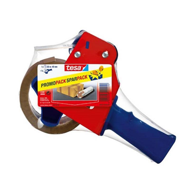 Dispenser cu banda adeziva pentru ambalare Tesa, 6 m x 48 mm, Maro 2021 shopu.ro