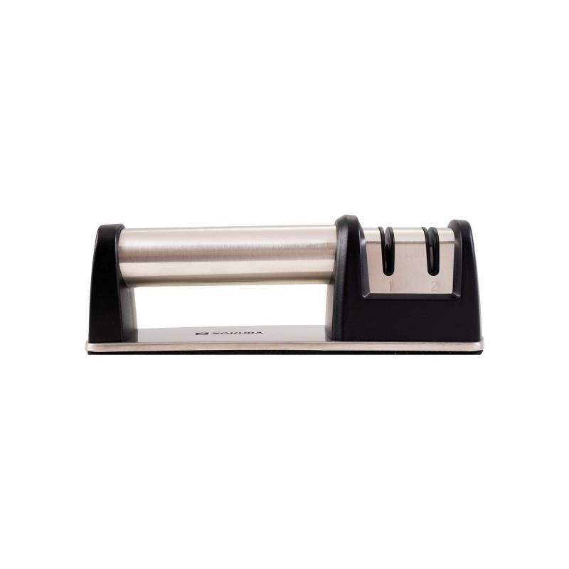 Dispozitiv de ascutit cutite Zokura, otel inoxidabil, maner ergonomic