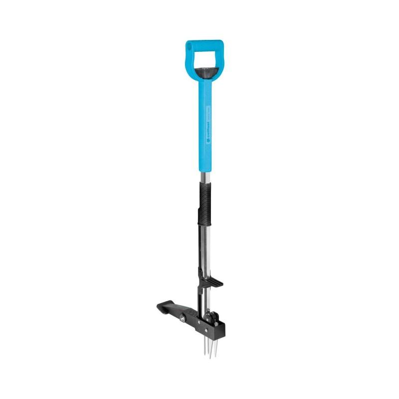 Dispozitiv pentru smuls buruieni Ideal Cellfast, maner reglabil, gheare inox, suport picior, Albastru 2021 shopu.ro