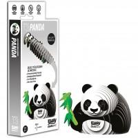 Animale 3D Eugy Panda Brainstorm Toys, carton biodegradabil, 6 ani+
