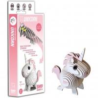 Animale 3D Eugy Unicorn Brainstorm Toys, carton biodegradabil, 6 ani+