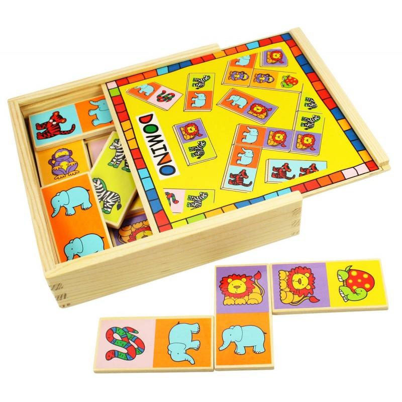 Domino pentru copii, 28 piese, 3 - 7 ani 2021 shopu.ro