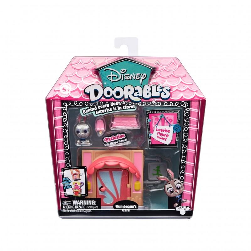 Mini set de constructie Jumbeauxs Cafe Doorables S1, 2 figurine, accesorii incluse 2021 shopu.ro