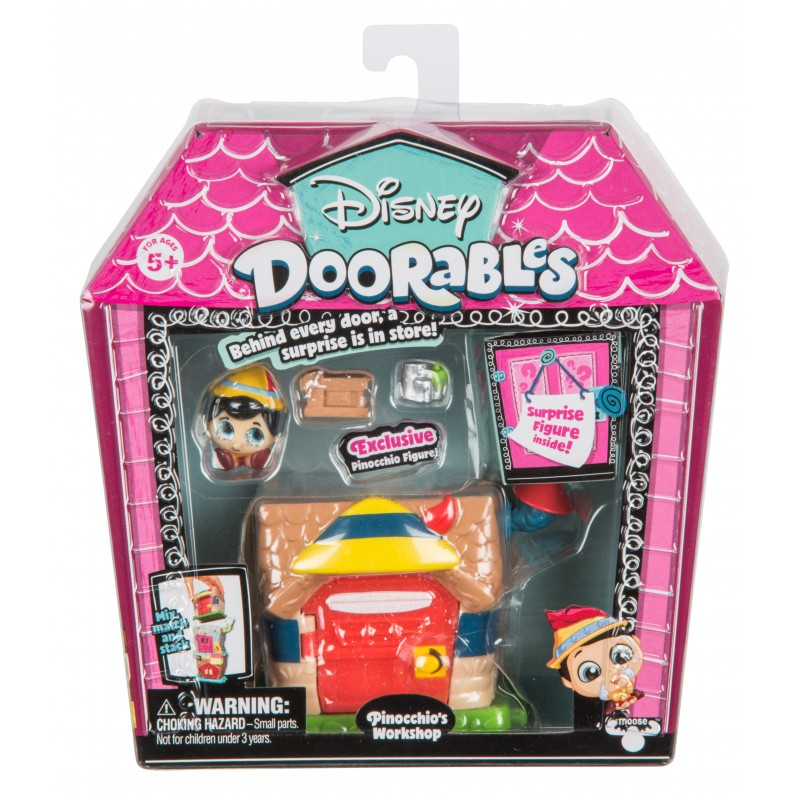 Mini set de constructie Pinocchio Doorables S1, 2 figurine, accesorii incluse 2021 shopu.ro