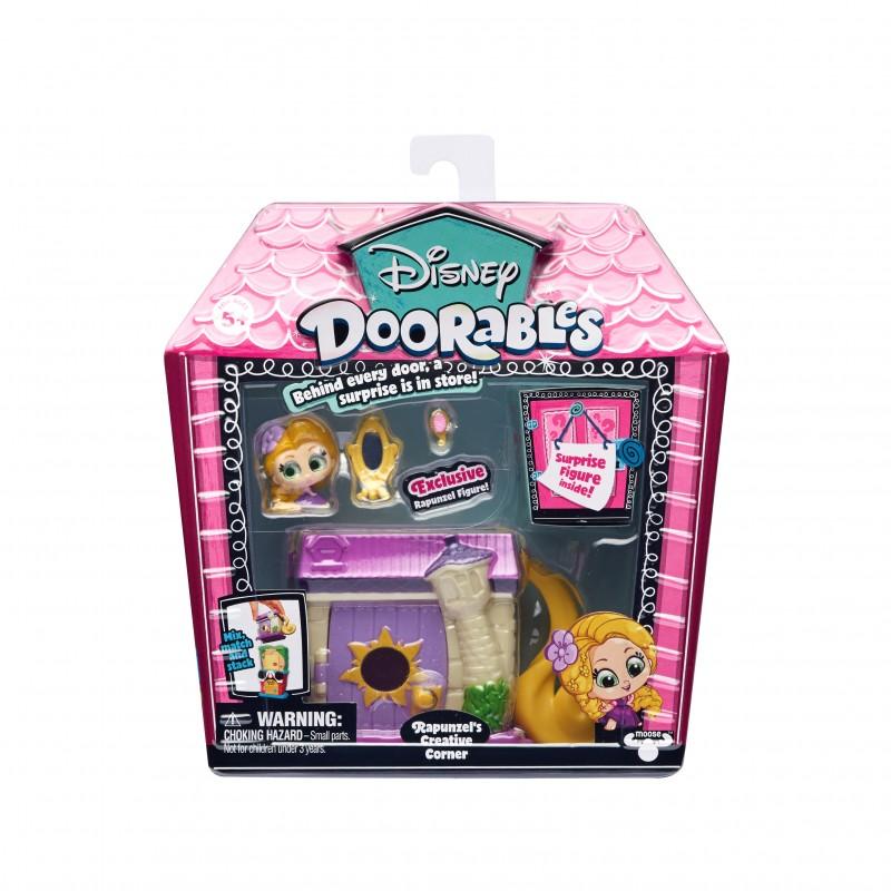 Mini set de constructie Rapunzel Doorables S1, 2 figurine, accesorii incluse 2021 shopu.ro
