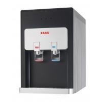 Dozator apa pentru birou Zass, 500 W, 5 l/h, conexiune la retea, sistem filtrare, apa calda/apa rece, racire cu compresor, Negru