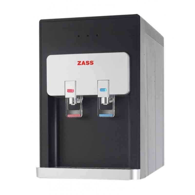Dozator apa pentru birou Zass, 500 W, 5 l/h, conexiune la retea, sistem filtrare, apa calda/apa rece, racire cu compresor, Negru 2021 shopu.ro