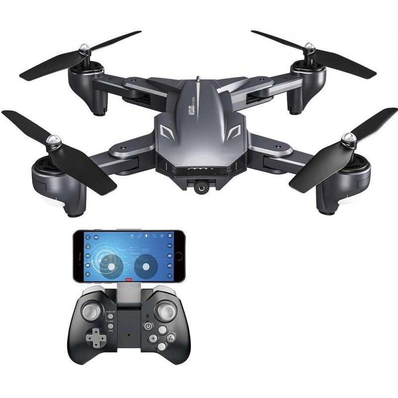 Drona Visuo 4K XS816, 1800 mAh, transmisie pe telefon, control gesturi, altitudine automata, pozitionare optica 2021 shopu.ro