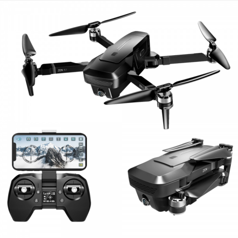 Drona Visuo Zen K1, camera 4K, transmisie live pe telefon, motoare Brushless, 14 ani+ 2021 shopu.ro