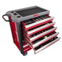Dulap scule echipat Proline, 706 x 450 x 950 mm, 7 sertare, 206 piese