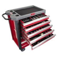 Dulap scule echipat Proline HD, 706 x 450 x 950 mm, 7 sertare, 206 piese