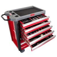 Dulap scule echipat Proline, 706 x 450 x 950 mm, 7 sertare, 211 piese