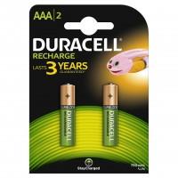 Set 2 acumulatori Duracell, tip AAA, 750 mAh