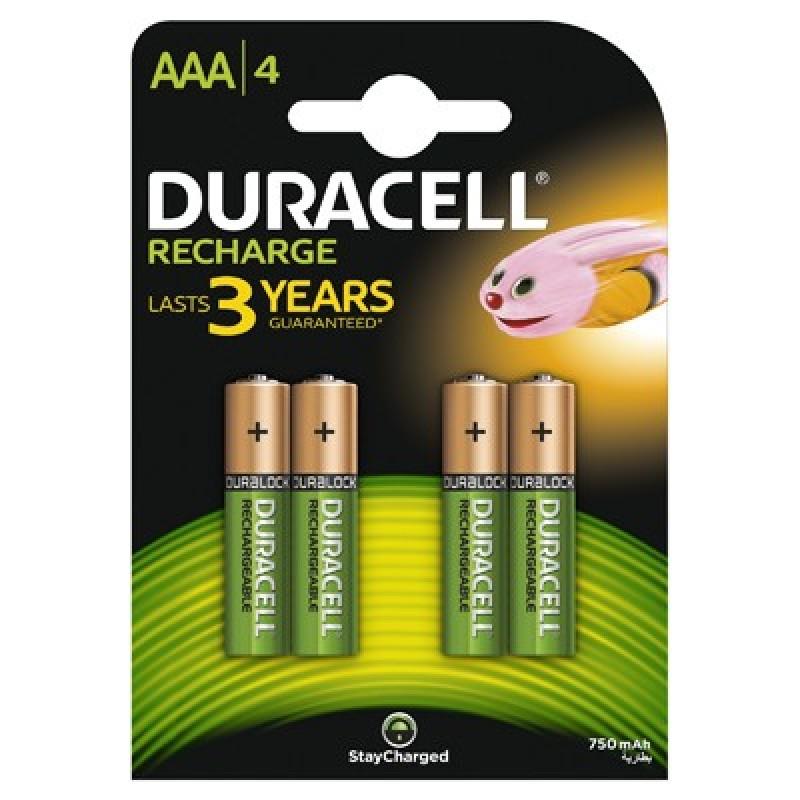 Set 4 acumulatori Duracell, tip AAA, 750 mAh 2021 shopu.ro