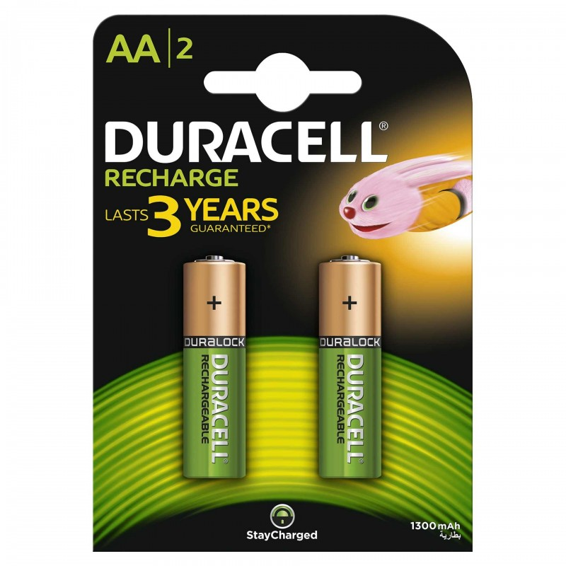 Set 2 acumulatori Duracell, tip AA, 1300 mAh 2021 shopu.ro