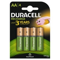 Set 4 acumulatori Duracell, tip AA, 1300 mAh
