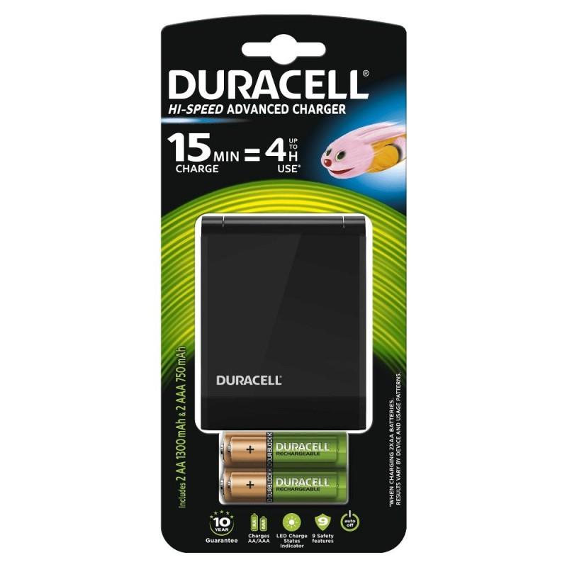Set 2 acumulatori Duracell, 1 x AA/1 x AAA, 1300 mAh/750 mAh, incarcator CEF27 inclus 2021 shopu.ro