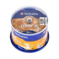 Pachet DVD-R Verbatim, capacitate 4.7 GB, viteza scriere 16X, 50 bucati