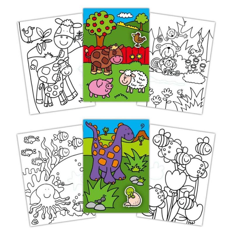 Early Activities: Prima carte de colorat cu abtibilduri Galt, 24 pagini, 3 ani+ 2021 shopu.ro