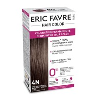 Vopsea de par permanenta Eric Favre Hair Color, 4N, Saten natural