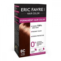 Vopsea de par permanenta Eric Favre Hair Color, 8C, Blond aramiu