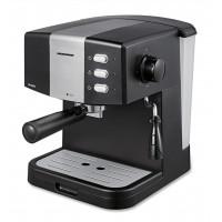 Espressor manual Sellenth Heinner, 850 W, 15 bar, 1.5 l, dispozitiv spumare, filtru dublu inox, Negru/Argintiu