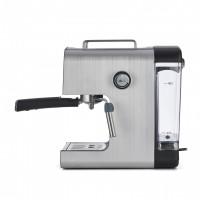 Espressor semi-automat Heinner, 850 W, 20 bar, 1.2 l, fispozitiv spumare, mentinere la cald, carcasa inox, Argintiu