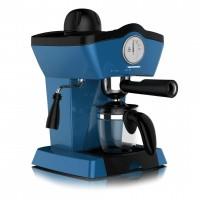 Espressor manual Charm Heinner, 800 W, 0.25 l, 3.5 bar, termometru frontal, cana inclusa, carcasa plastic, Albastru