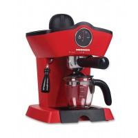 Espressor manual Retro effect Heinner, 800 W, 3.5 bari, 250 ml, control mecanic, cana sticla, Rosu