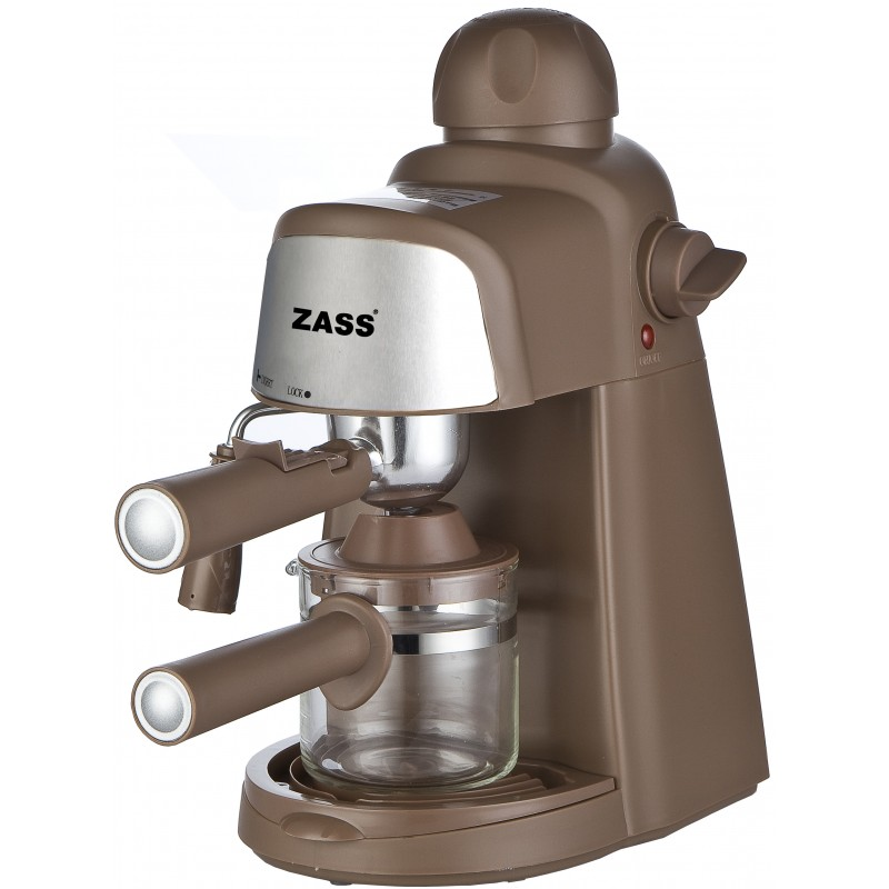 Espressor manual Zass, 800 W, 5 bari, dispozitiv cappuccino, Maro 2021 shopu.ro