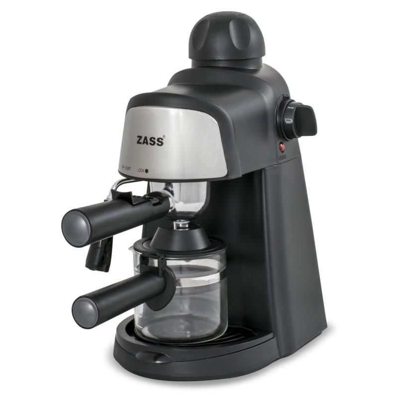 Espressor manual Zass, 800 W, 5 bari, dispozitiv cappuccino, Negru 2021 shopu.ro
