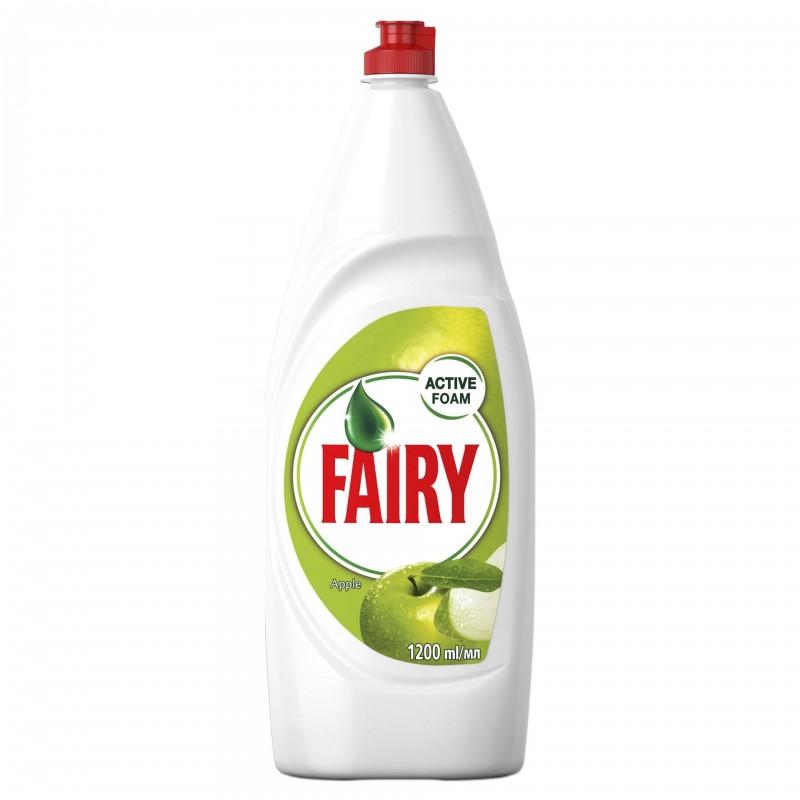 Detergent lichid pentru vase Fairy Apple, 1.2 l, formula activa shopu.ro
