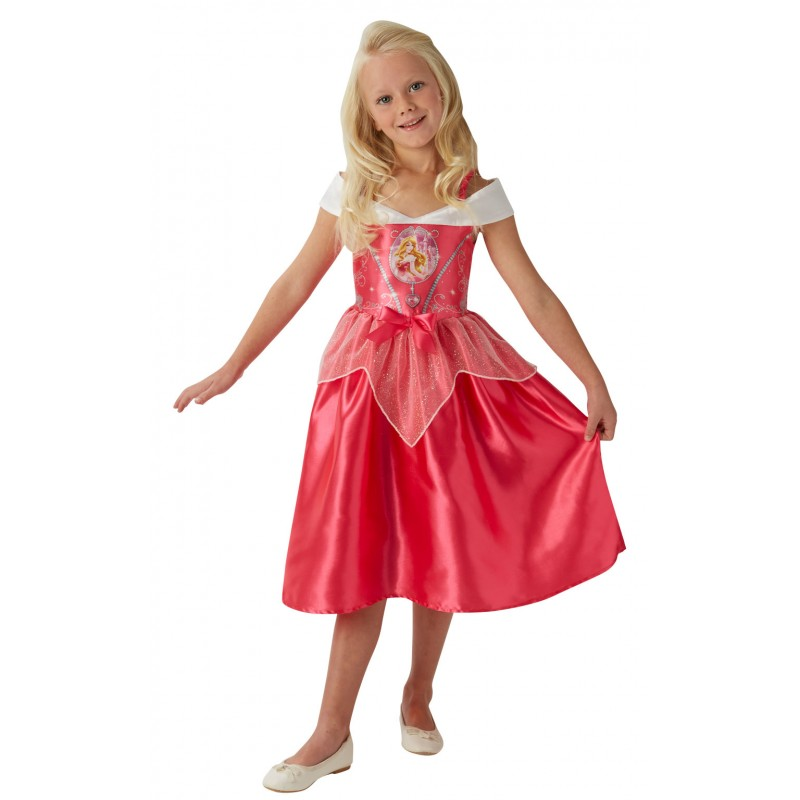 Costum fetite Fairytale Sleeping Beauty, marime M, 5-6 ani 2021 shopu.ro