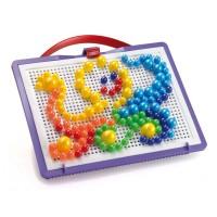 Puzzle Fantacolor portabil Quercetti, 160 piese, 3 ani+