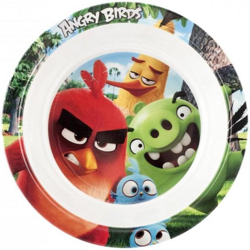 Farfurie adanca melamina Angry Birds Lulabi, 21 cm, Multicolor