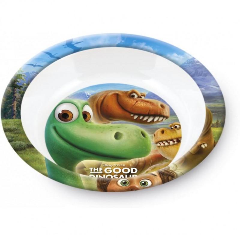 Farfurie adanca melamina Bunul Dinozaur Lulabi, 21 cm, Multicolor