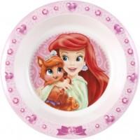 Farfurie adanca din melamina Princess Pets Lulabi, 21 cm, Roz