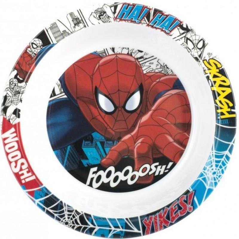 Farfurie adanca melamina SpiderMan Lulabi, diametru 20 cm 2021 shopu.ro