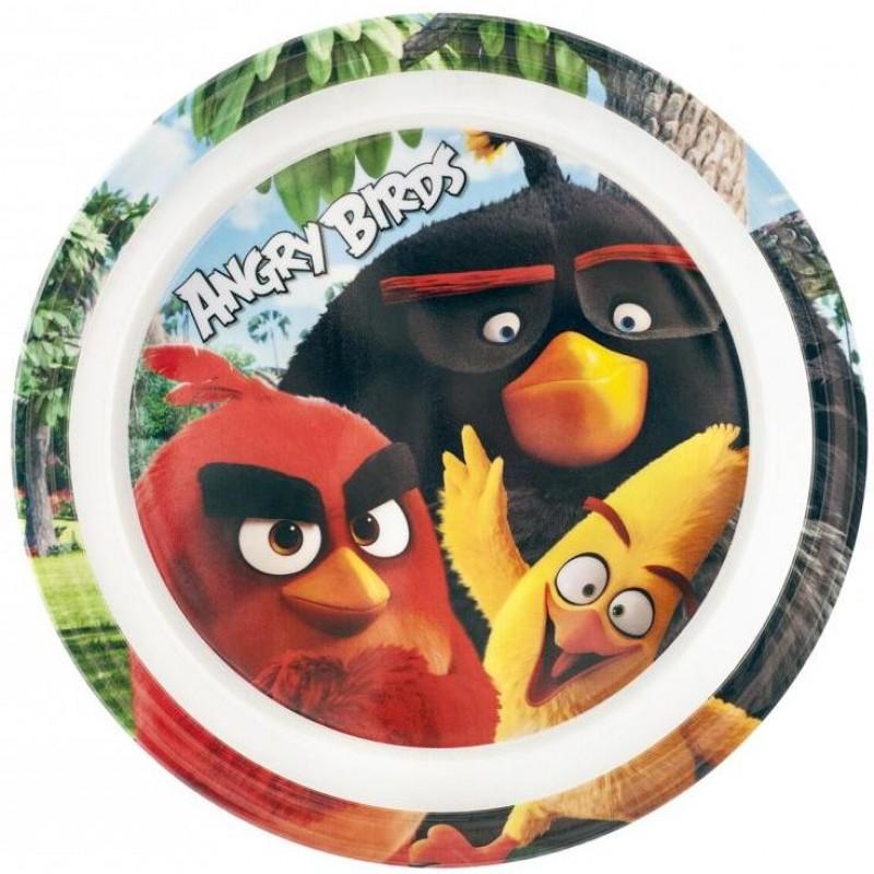 Farfurie melamina Angry Birds Lulabi, 22 cm, Multicolor
