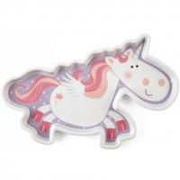 Farfurie melamina Fairy Tales Unicorn Lulabi, forma unicorn
