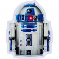 Farfurie melamina Star Wars R2-D2 Lulabi, Alb/Albastru