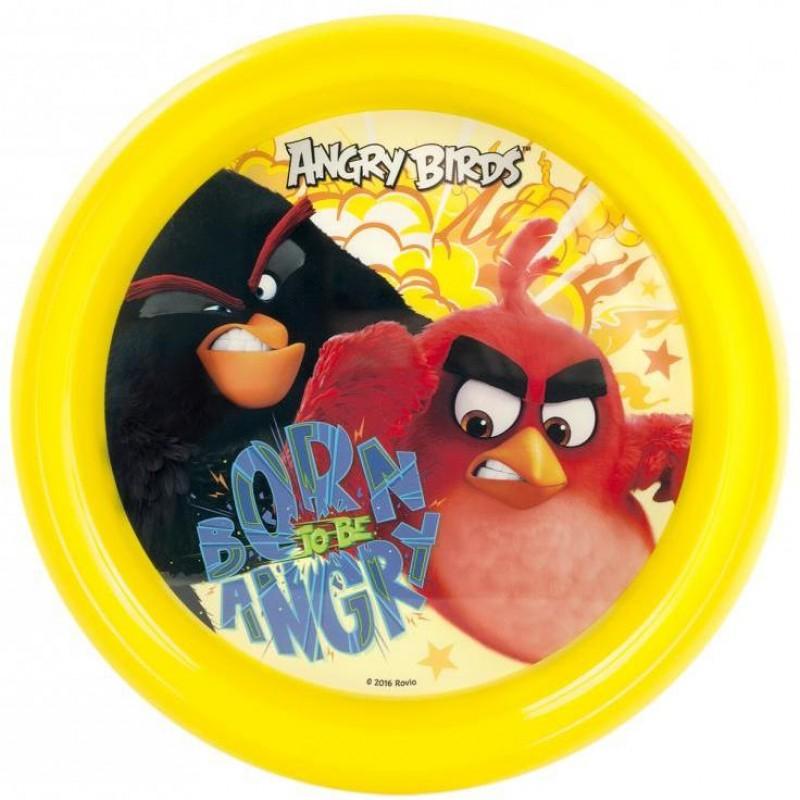 Farfurie plastic Angry Birds Lulabi, 22 cm, Multicolor 2021 shopu.ro